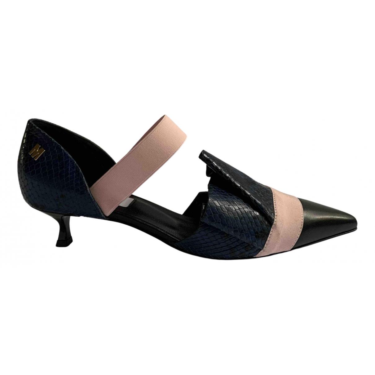 Msgm - Escarpins   pour femme en cuir - multicolore