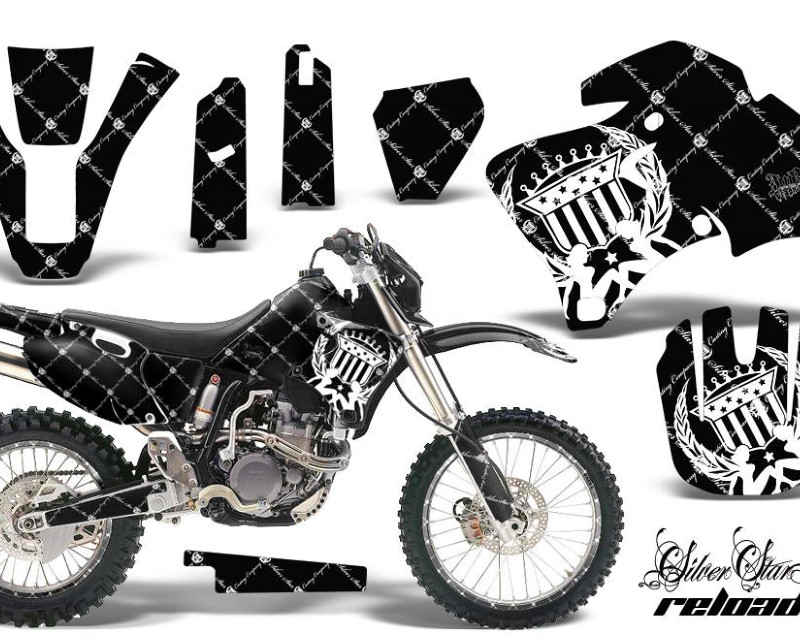 AMR Racing Graphics MX-NP-YAM-WR 250F/400F/426F-98-02-SSR W K Kit Decal Wrap + # Plates For Yamaha WR 250F |400F |426F 1998-2002áRELOADED WHITE BLACK