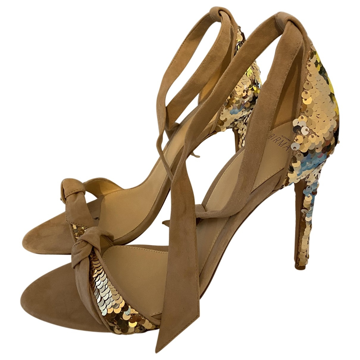 Alexandre Birman \N Gold Glitter Sandals for Women 40 EU