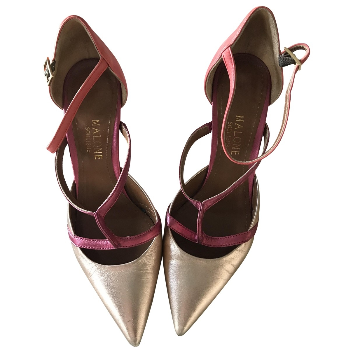 Malone Souliers \N Gold Leather Heels for Women 37.5 EU