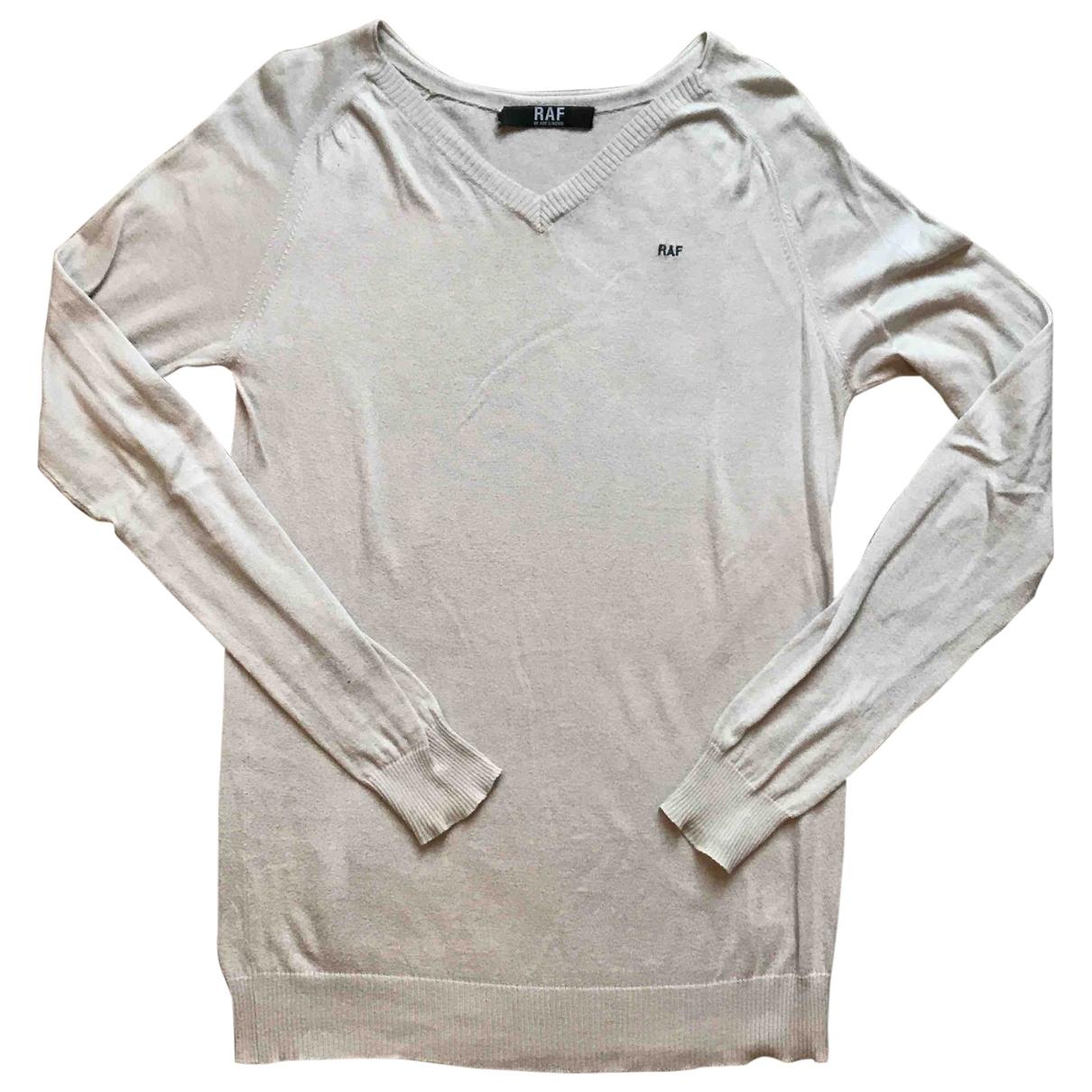 Raf Simons \N Pullover.Westen.Sweatshirts  in  Ecru Baumwolle