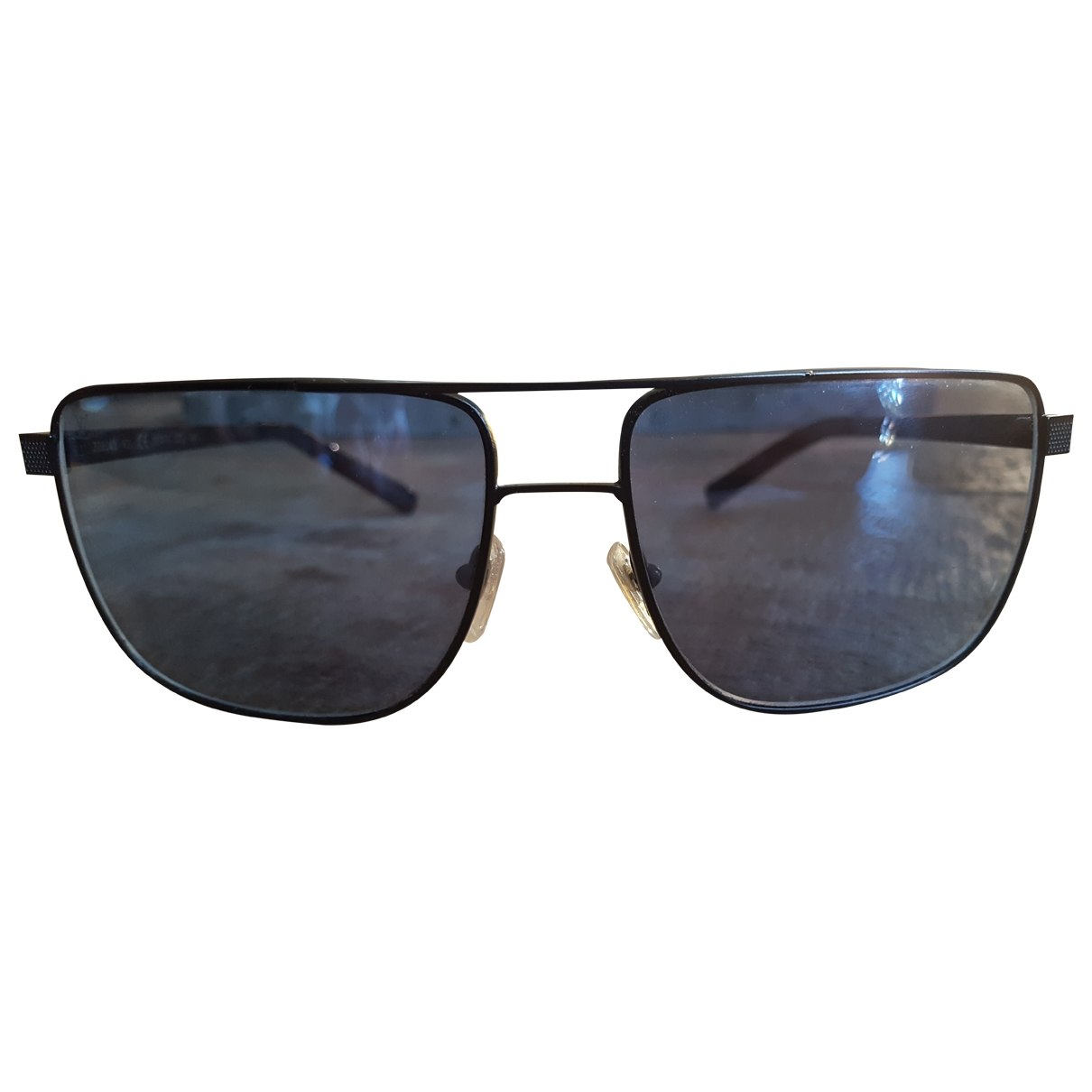 Louis Vuitton \N Black Metal Sunglasses for Men \N