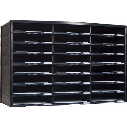Storex® 24-Compartment Literature Organizer, Document Sorter