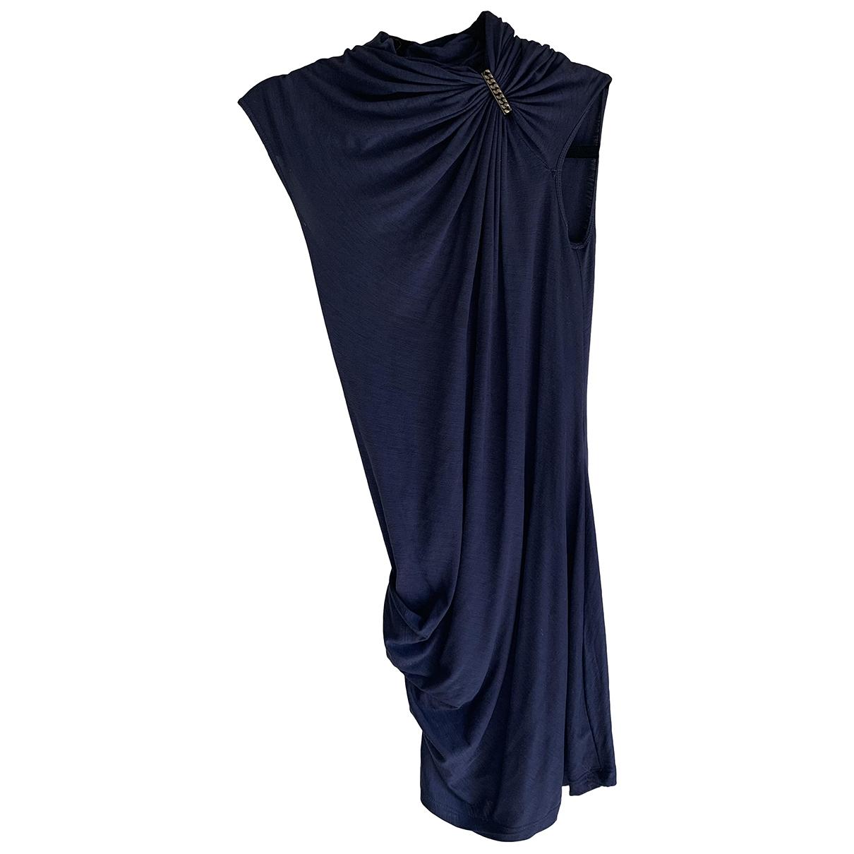 Plein Sud - Robe   pour femme en laine - bleu