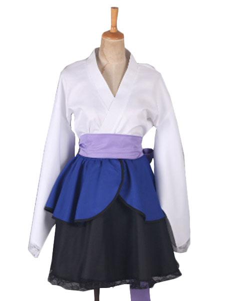 Milanoo Naruto Shippuden Uchiha Sasuke Female Lolita Kimono Dress Anime Cosplay Costume Halloween
