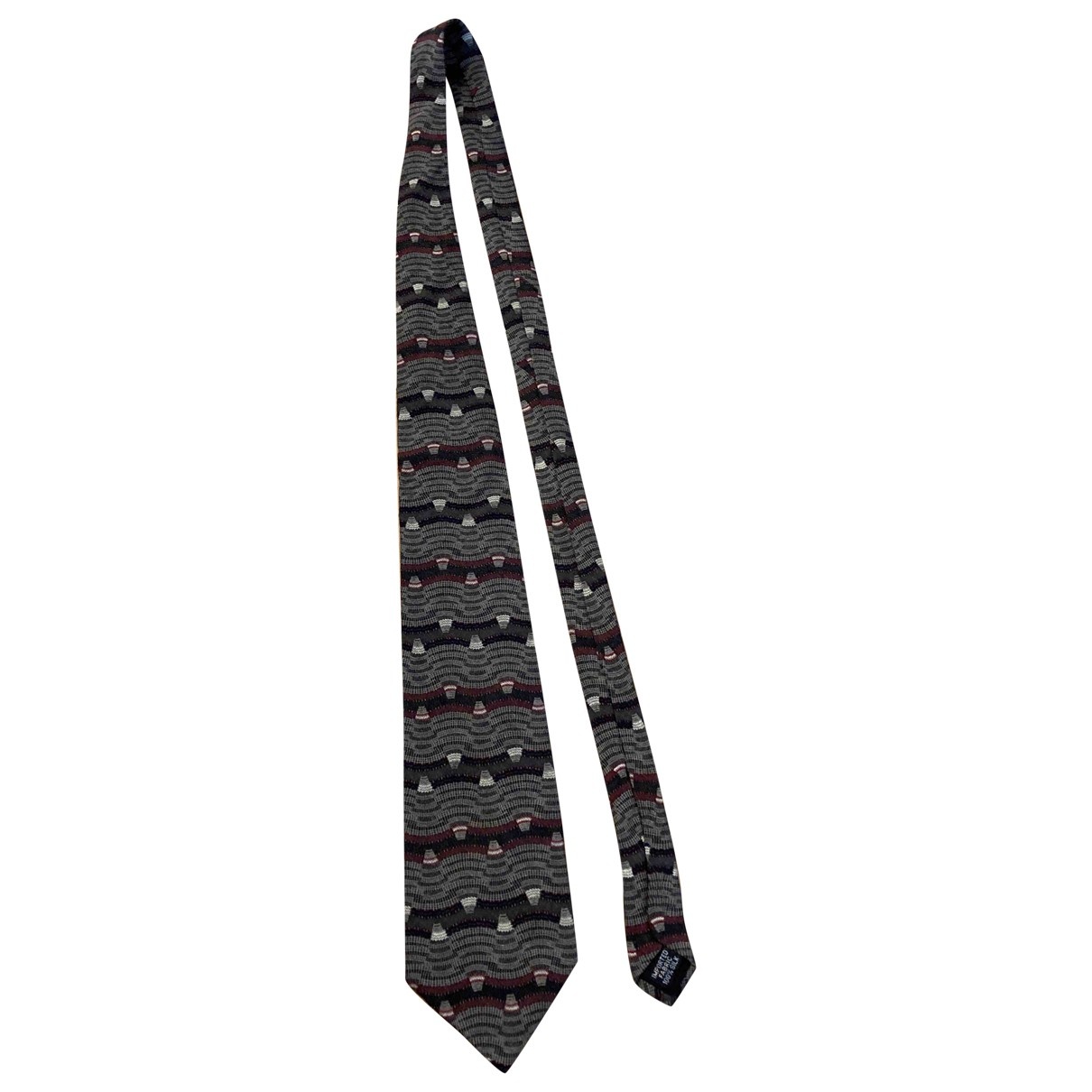 Oscar De La Renta - Cravates   pour homme en soie - gris