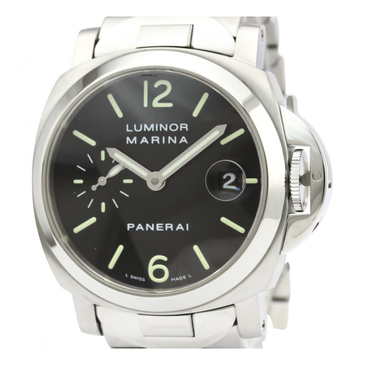 Panerai - Montre Luminor  pour homme en acier - noir