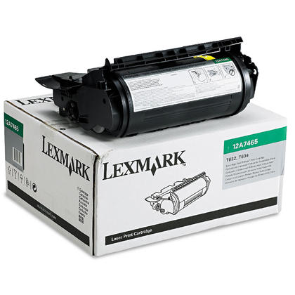 Lexmark 12A7465 Original Black Return Program Toner Cartridge Extra High Yield