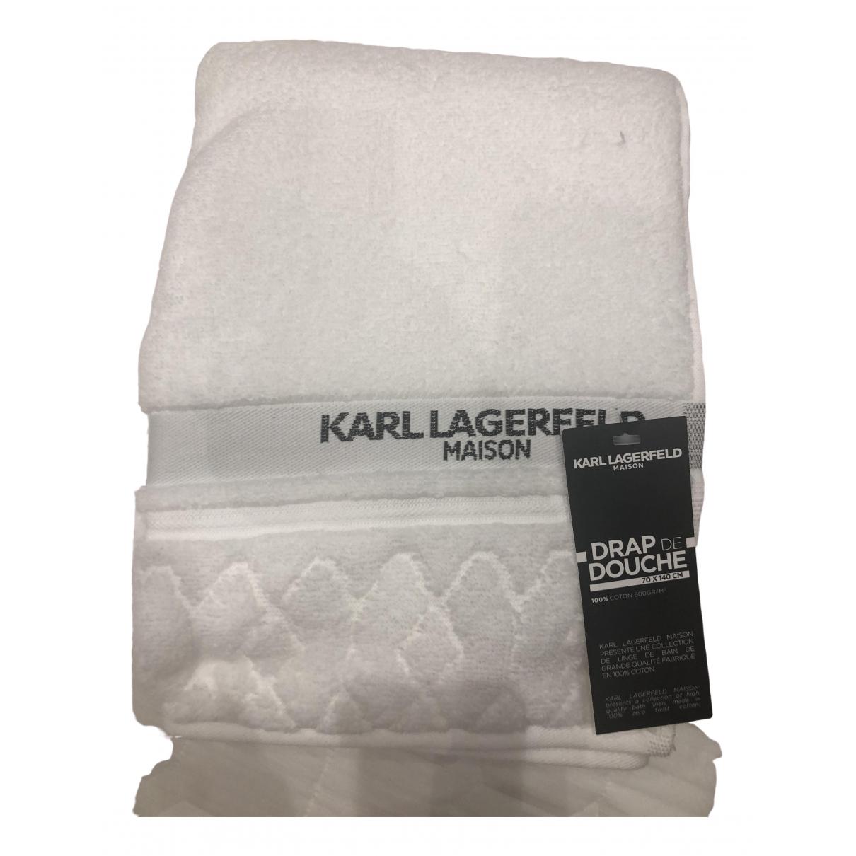 Karl Lagerfeld \N White Cotton Textiles for Life & Living \N