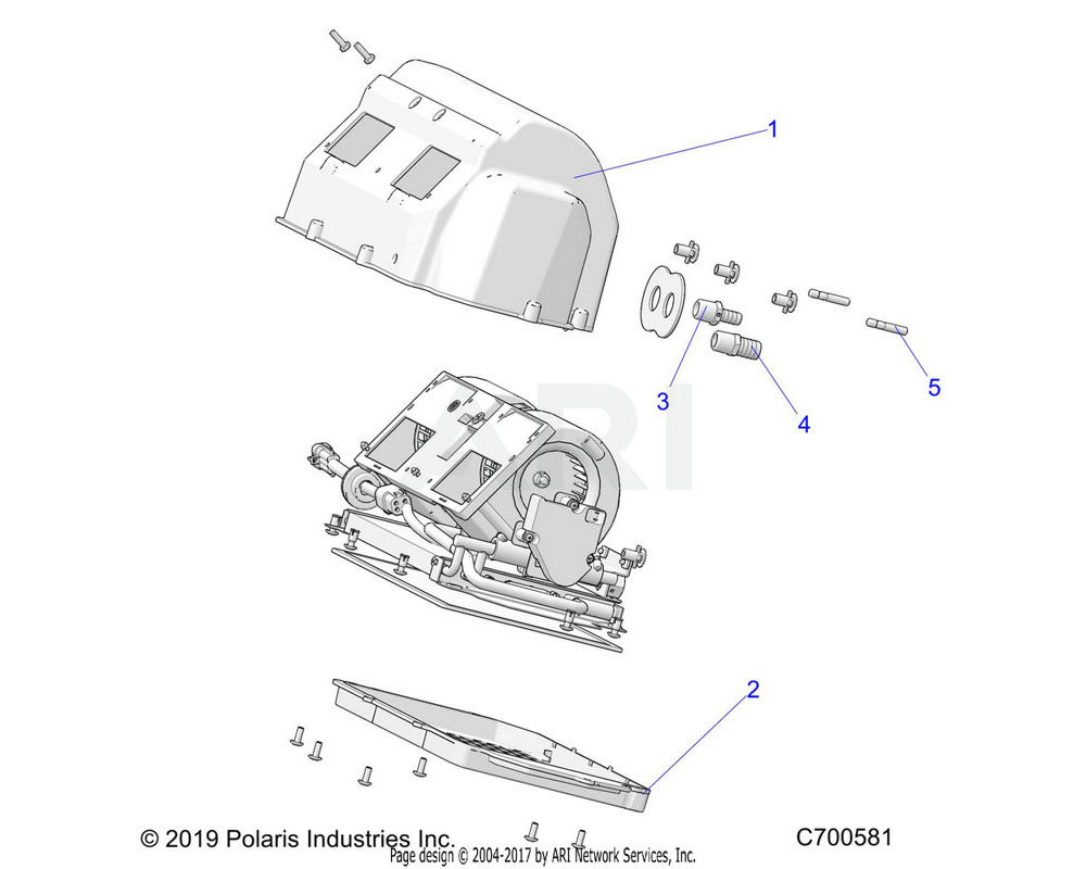 Polaris OEM 7052671 FITTING-MALE, 1/2NPT-3/4HB