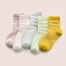 5pairs Toddler Kids Chevron Pattern Socks