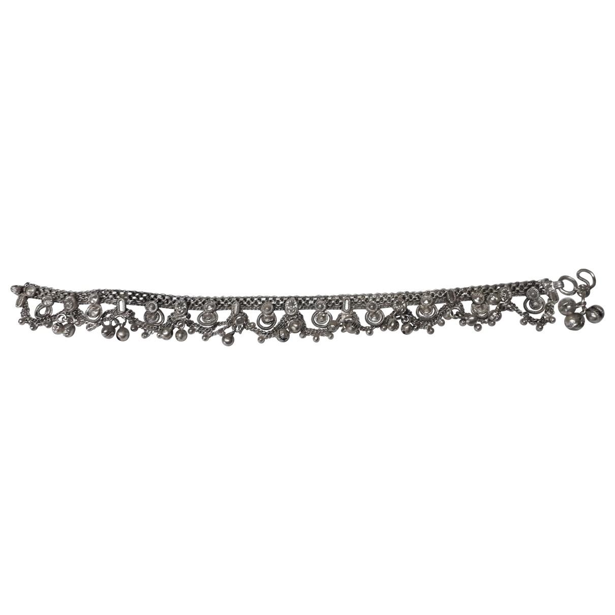 Non Signé / Unsigned Motifs Ethniques Silver Silver bracelet for Women \N