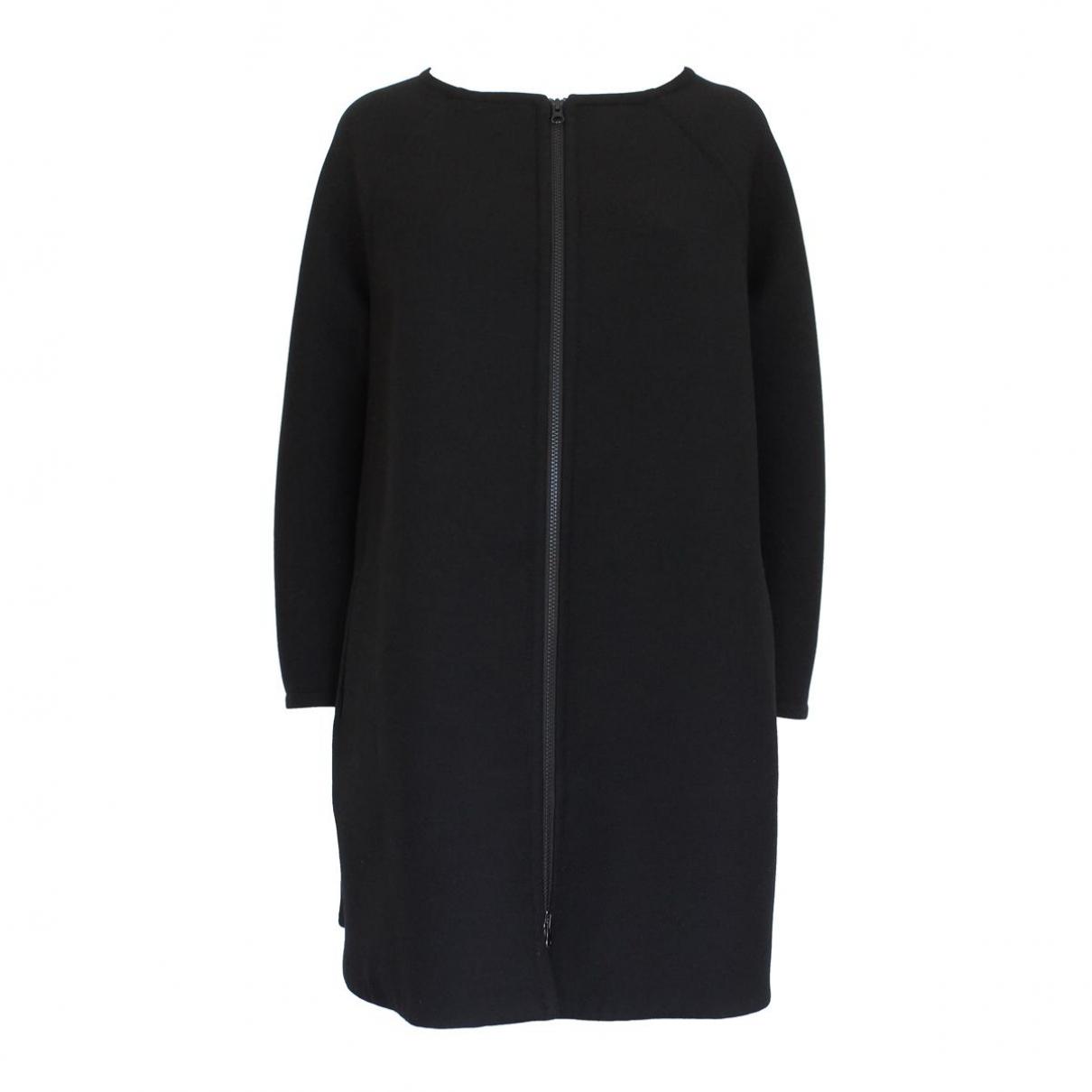 Gianluca Capannolo - Manteau   pour femme en laine - noir