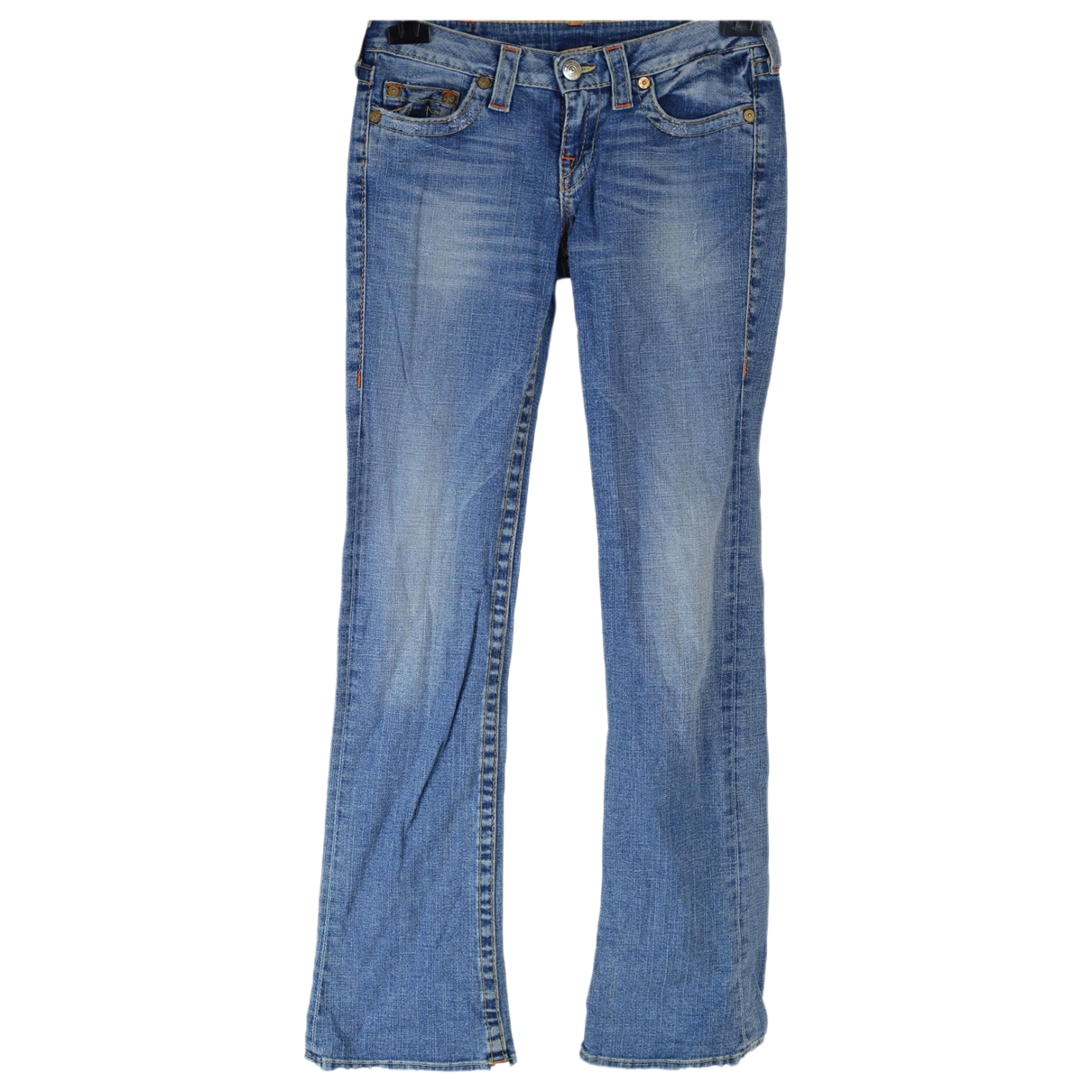 True Religion \N Blue Cotton - elasthane Jeans for Women 28 US