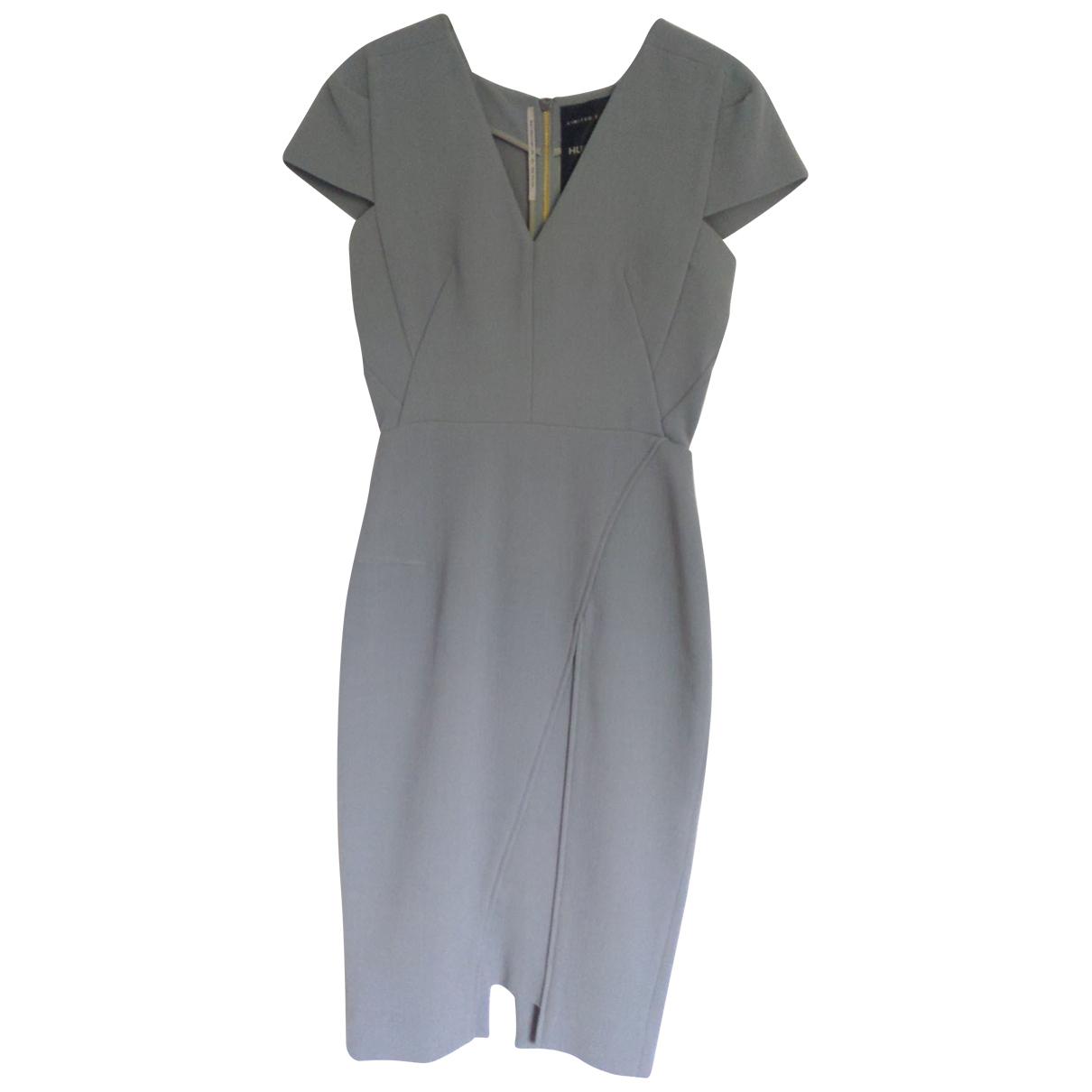 Roland Mouret \N Kleid in  Grau Wolle