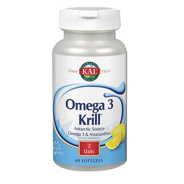 Omega 3 Krill 60 Softgels by Kal