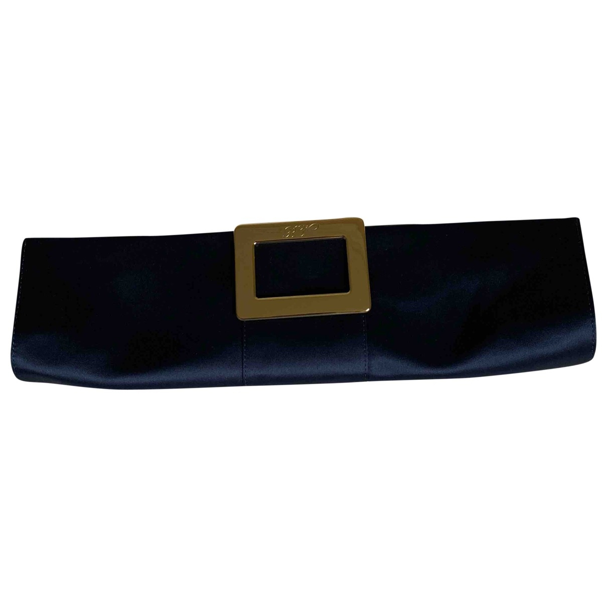Roger Vivier \N Blue Silk Clutch bag for Women \N