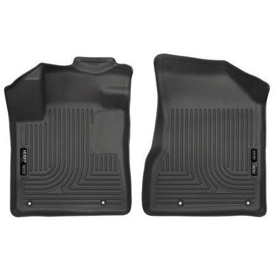 Husky WeatherBeater Floor Liners - Front (Black) - 18611