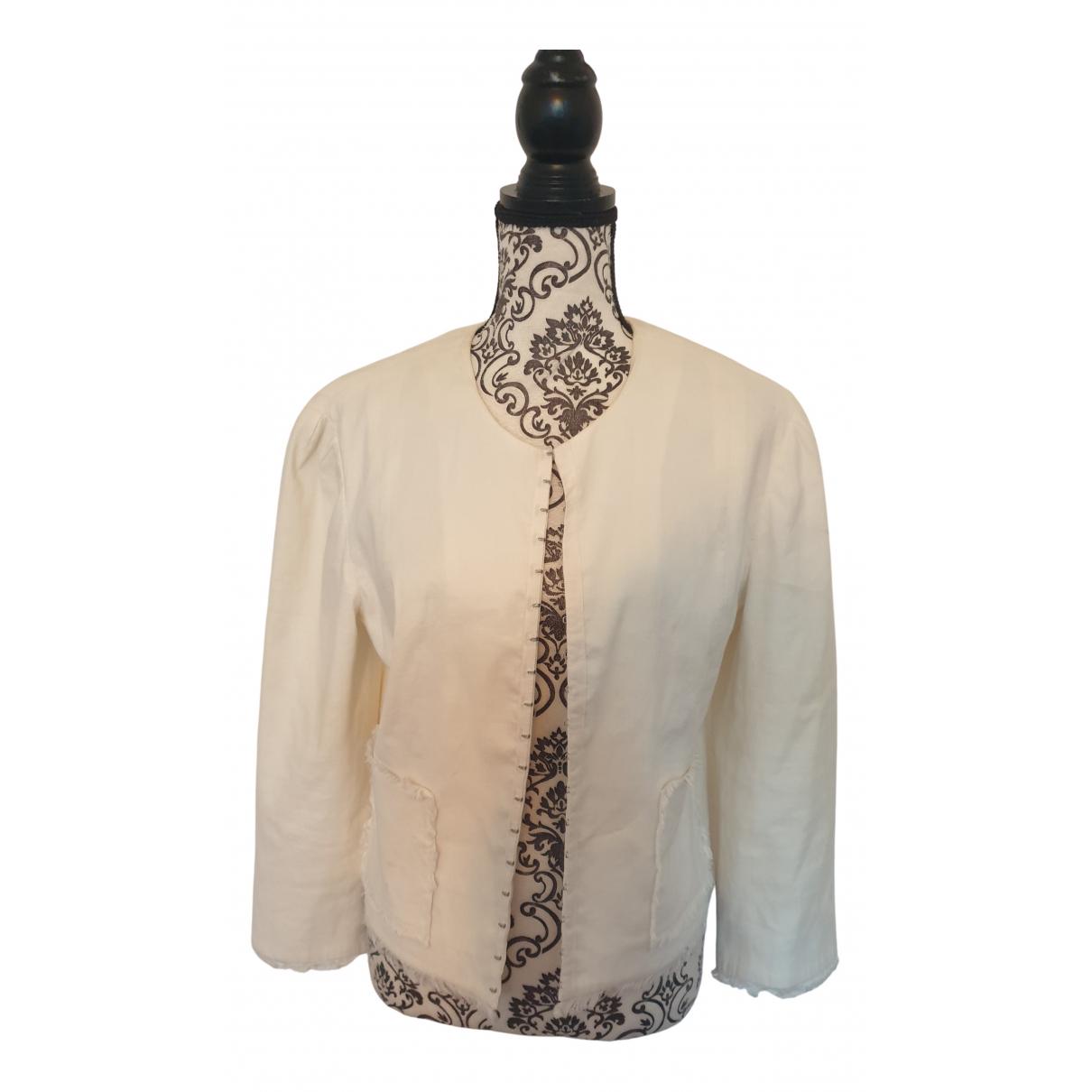 Bcbg Max Azria - Veste   pour femme en coton - blanc