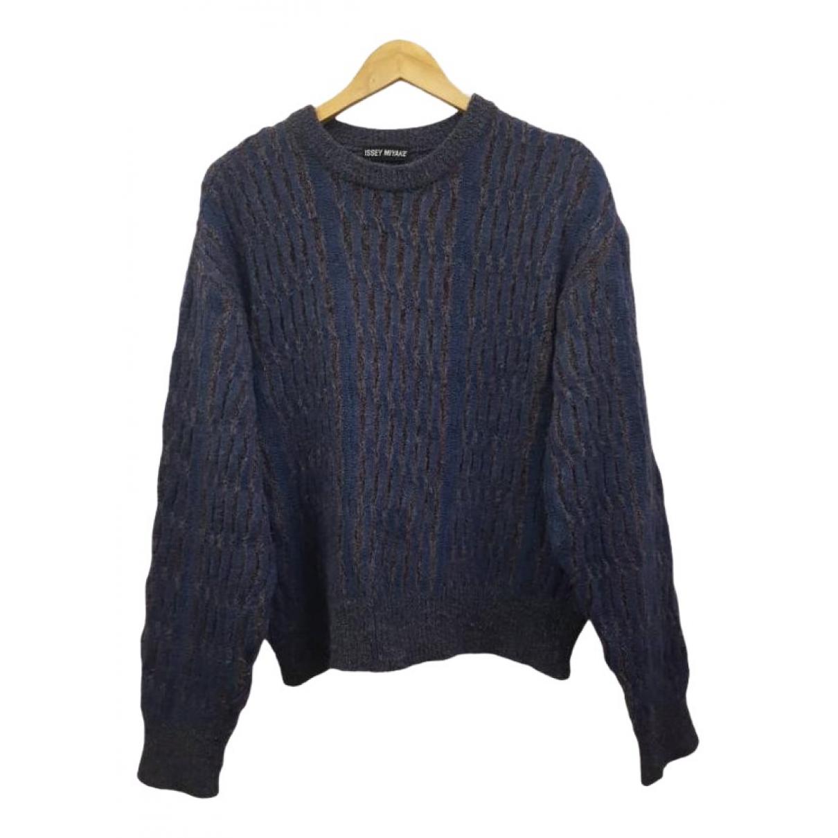 Issey Miyake \N Pullover.Westen.Sweatshirts  in  Blau Wolle