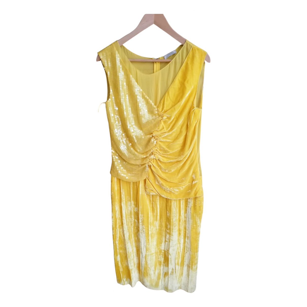 Nina Ricci - Robe   pour femme en soie - jaune