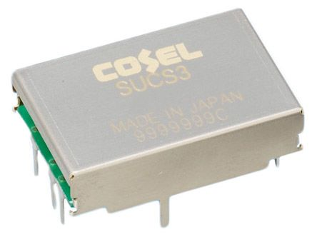 Cosel 3W Isolated DC-DC Converter Through Hole, Voltage in 18 → 36 V dc, Voltage out 3.3V dc