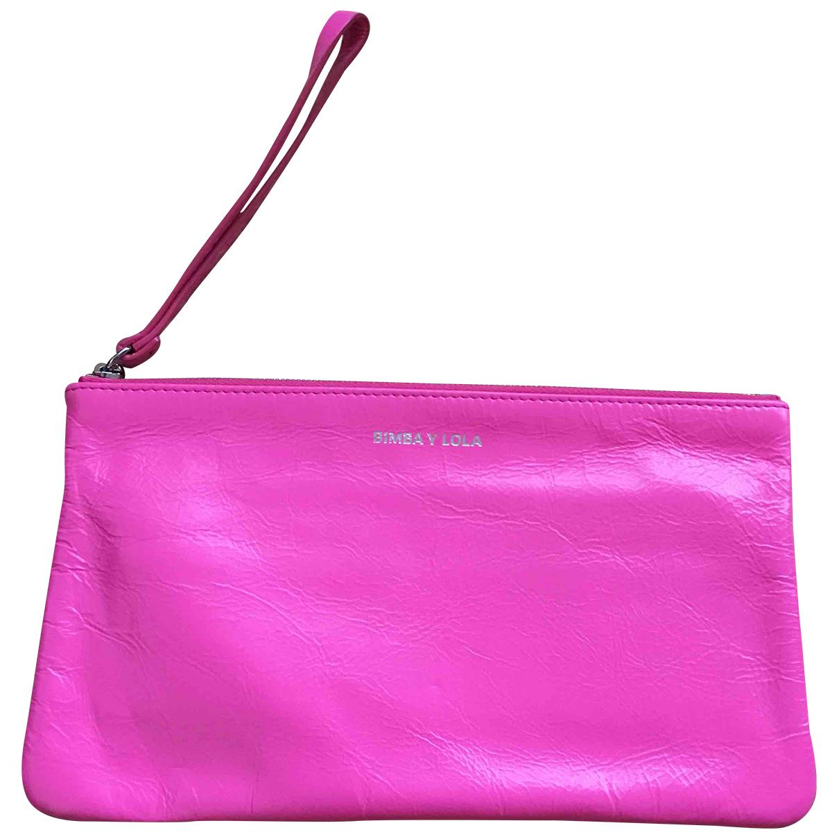 Bimba Y Lola - Pochette   pour femme en cuir - rose