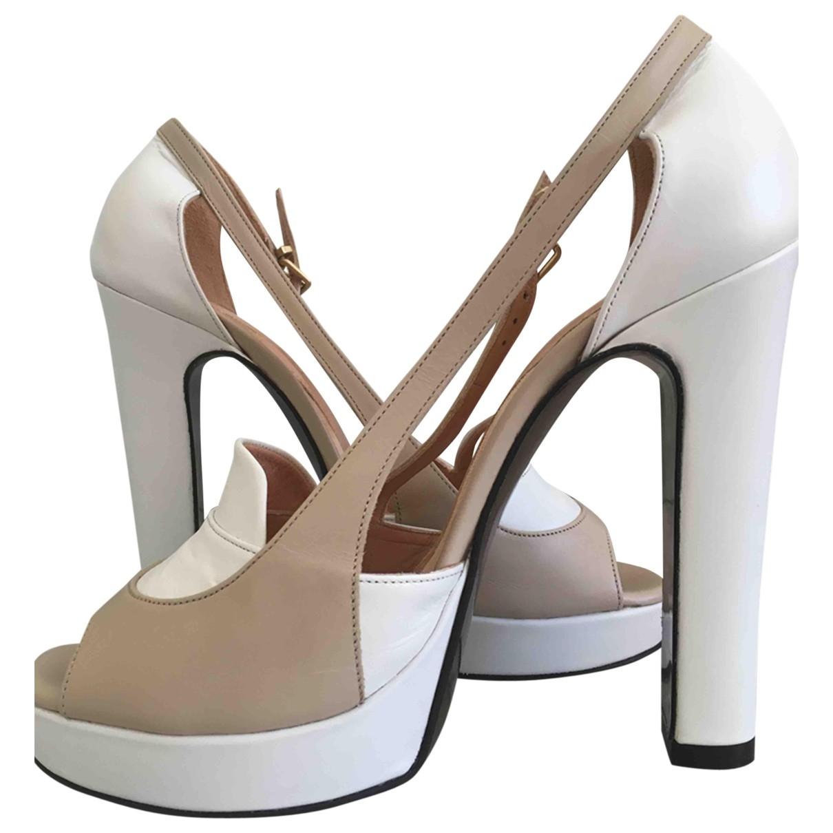 Robert Clergerie - Sandales   pour femme en cuir - blanc