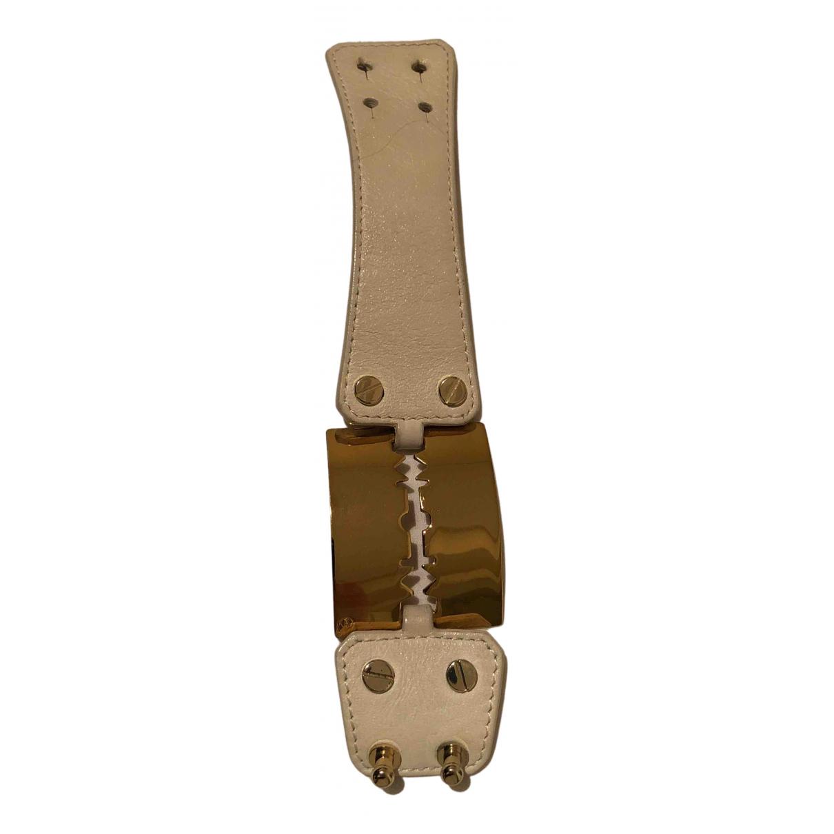 Alexander Mcqueen - Bracelet   pour femme en cuir - beige