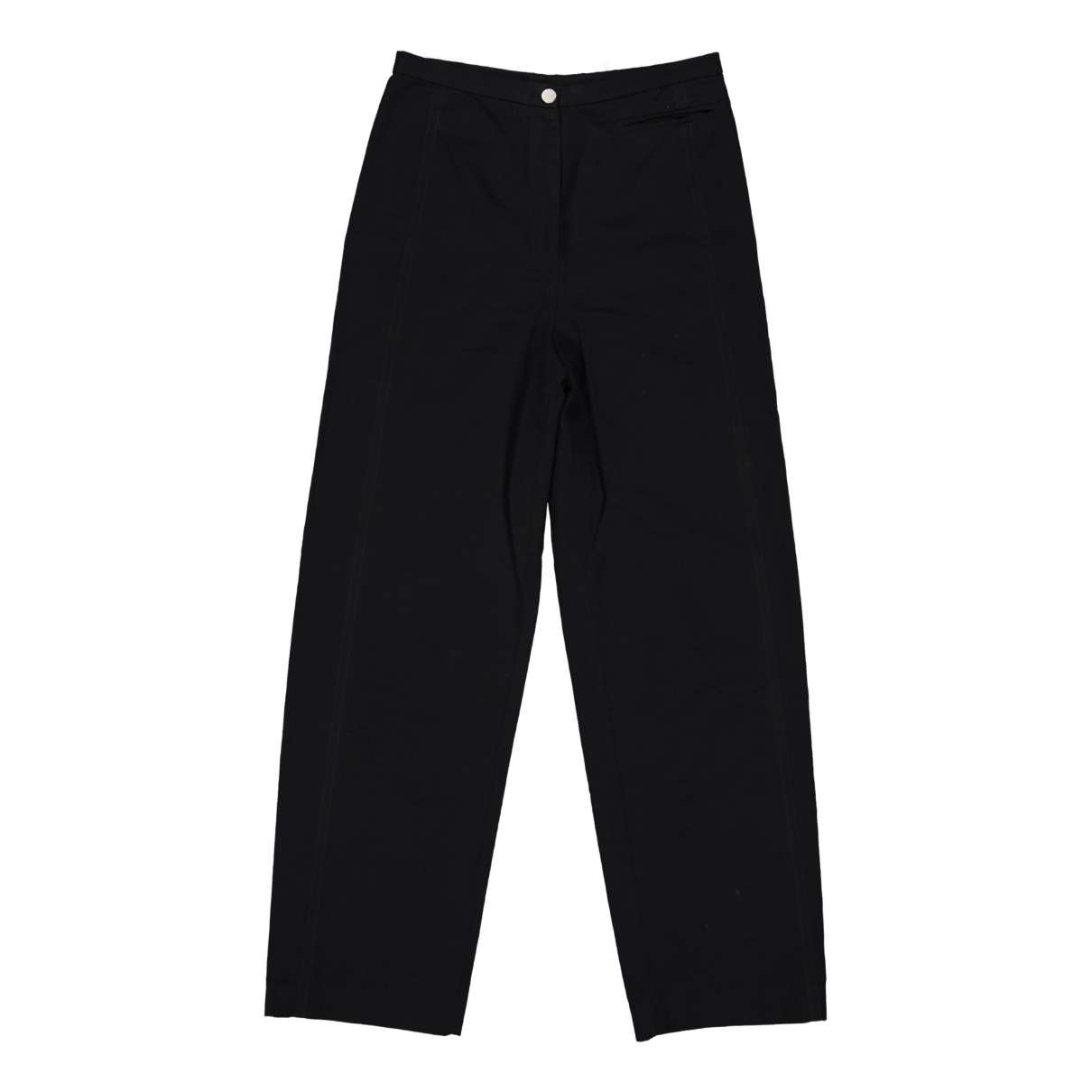 Lemaire \N Black Cotton Trousers for Women 42 FR