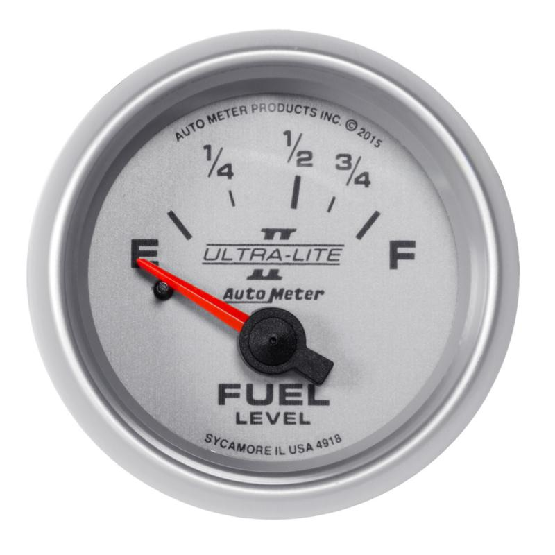 AutoMeter GAUGE; FUEL LEVEL; 2 1/16in.; 16OE TO 158OF; ELEC; ULTRA-LITE II