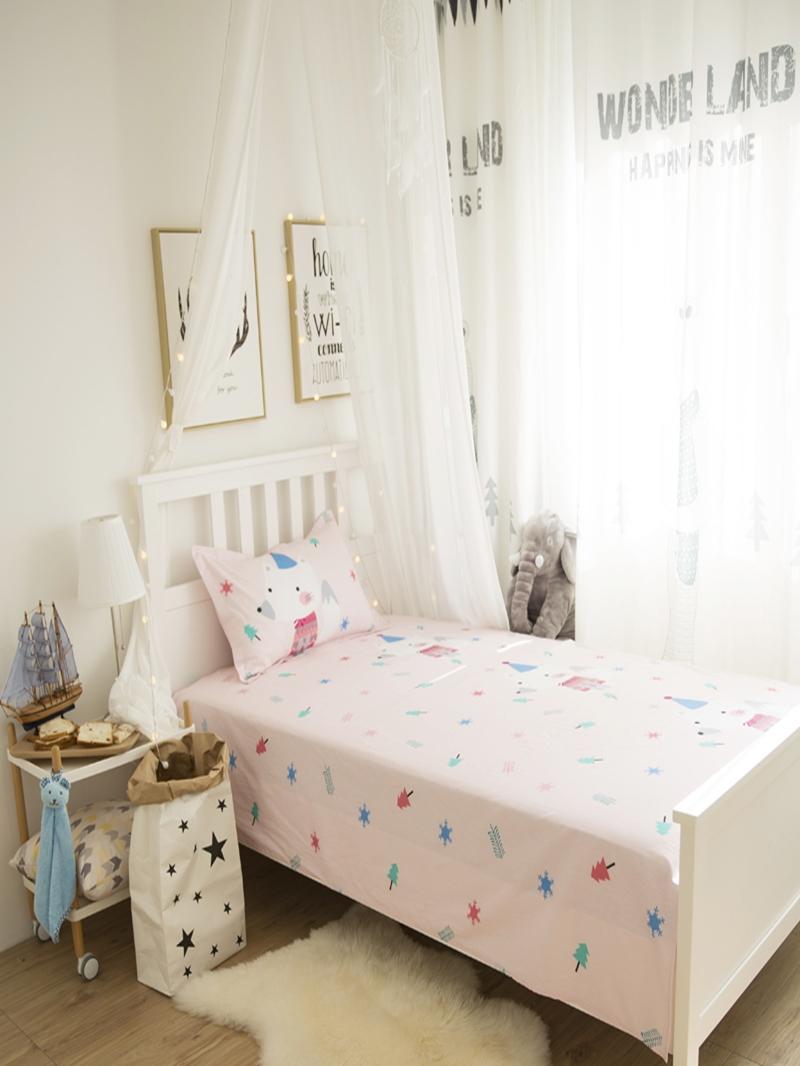 Vivilinen Mouse Printed Cotton 3-Piece Pink Duvet Covers/Bedding Sets