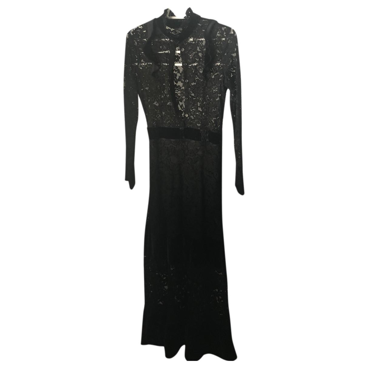 Dixie \N Kleid in  Schwarz Spitze