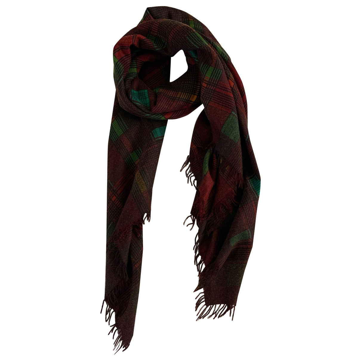 Yves Saint Laurent \N Burgundy Wool scarf for Women \N