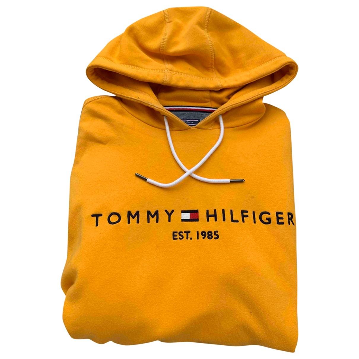 Tommy Hilfiger \N Pullover.Westen.Sweatshirts  in  Orange Baumwolle