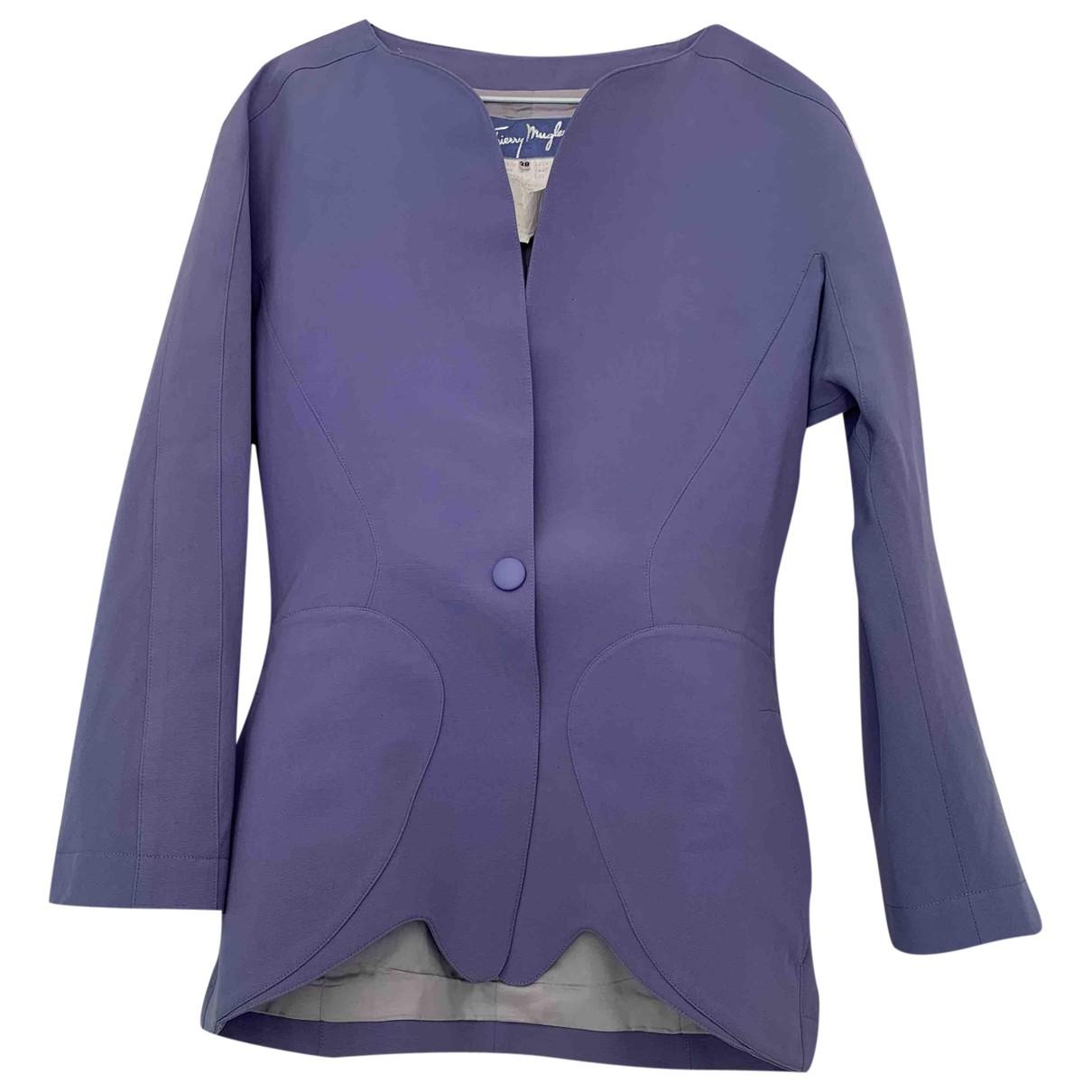 Thierry Mugler - Veste   pour femme en laine - violet