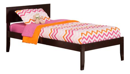 Orlando Collection AR8121001 Twin Size Platform Bed with Low-Profile Adjustable Headboard  Open Foot Board  Hardwood Slat Kit and Eco-Friendly Solid