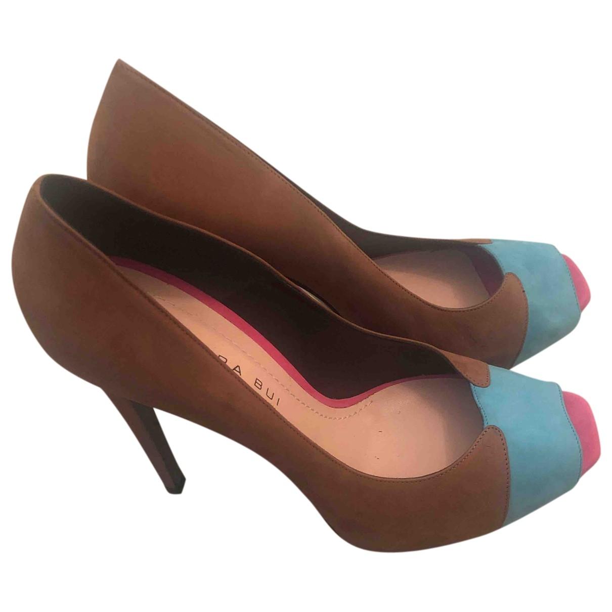 Barbara Bui \N Brown Leather Heels for Women 37.5 EU