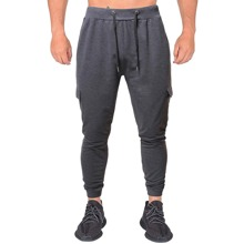 Men Flap Pockets Drawstring Waist Sweatpants