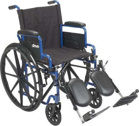 BLS20FBD-ELR Blue Streak Wheelchair With Flip Back Desk Arms  Elevating Leg Rests  20