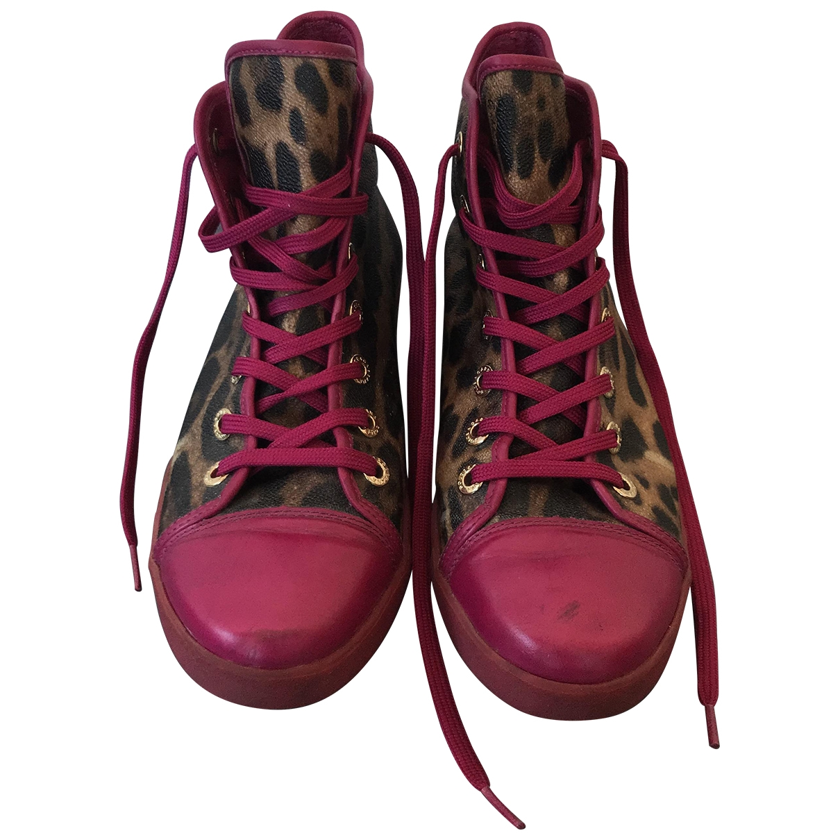 Dolce & Gabbana \N Sneakers in  Rosa Leder