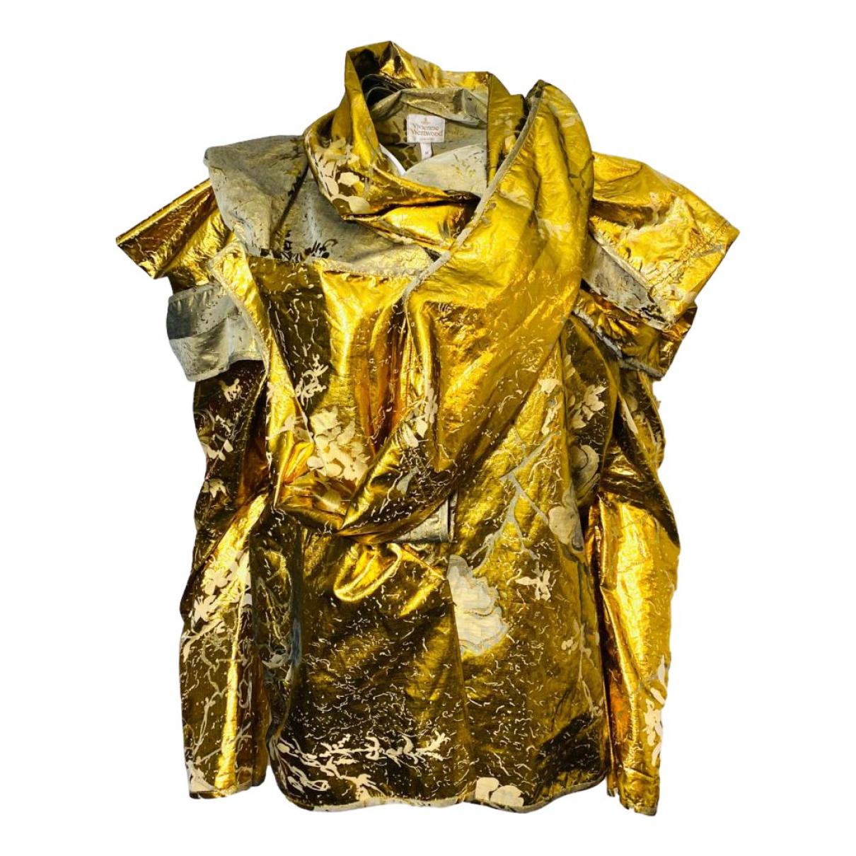 Vivienne Westwood \N Jacke in  Gold Seide