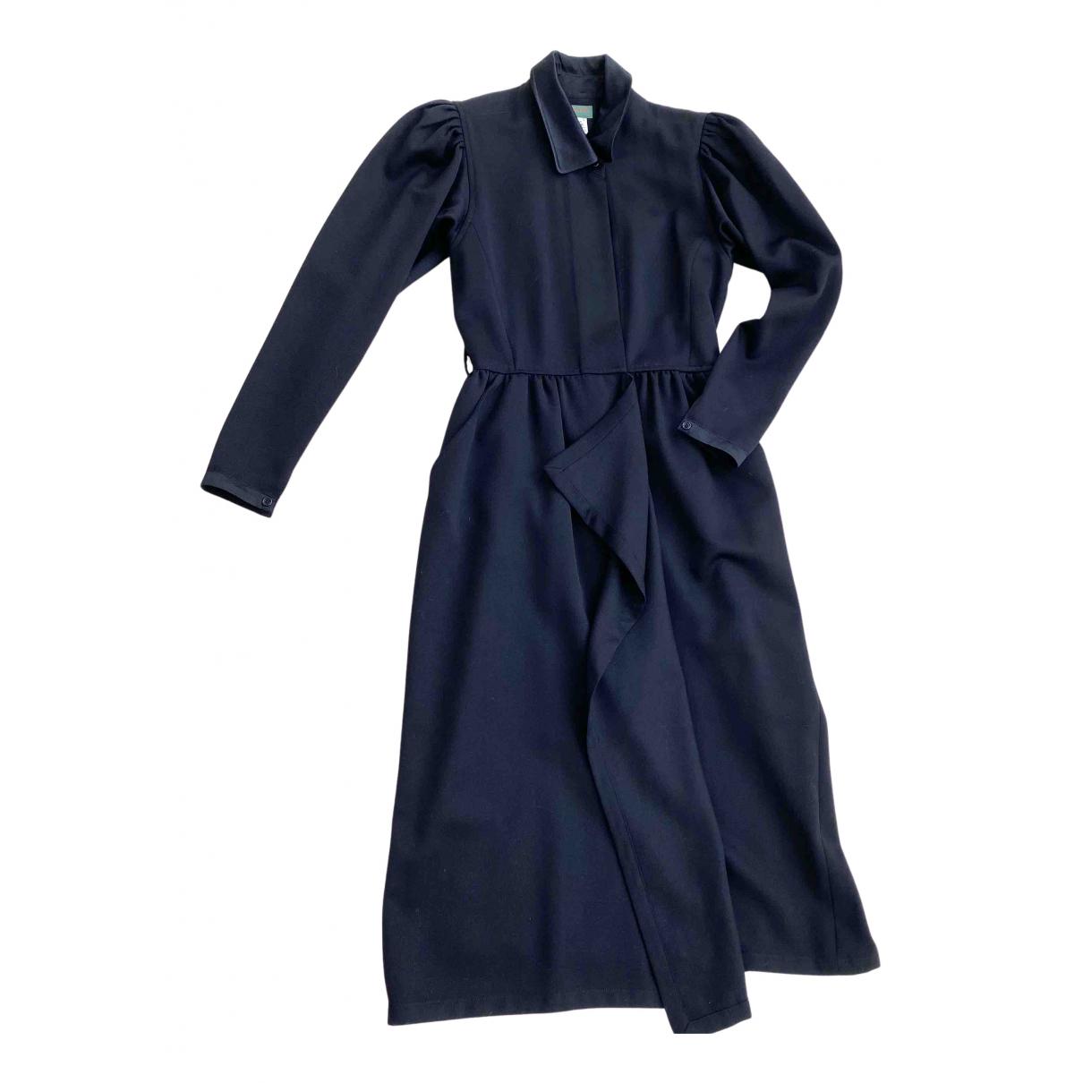 Kenzo \N Kleid in  Schwarz Wolle