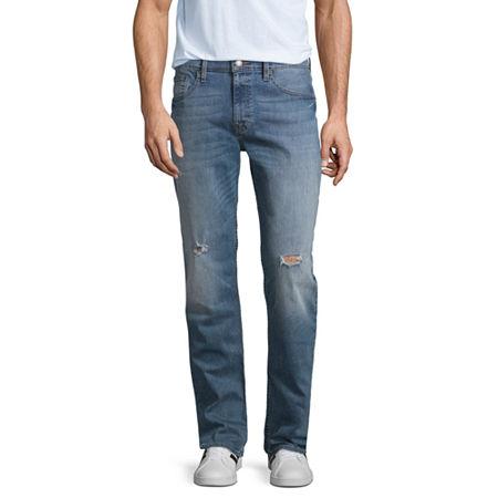 Arizona Mens Stretch Slim Fit Jean, 34 32, Blue