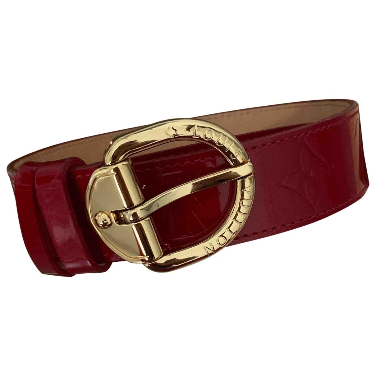 Louis Vuitton - Ceinture   pour femme en cuir verni - rouge