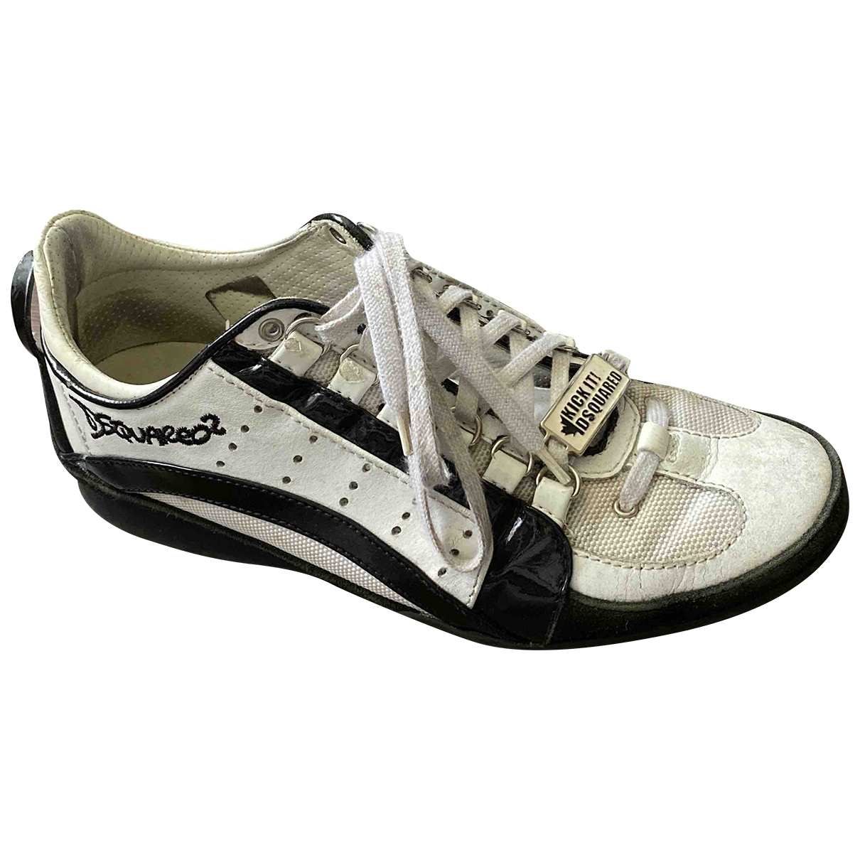 Dsquared2 \N White Leather Trainers for Men 40 EU