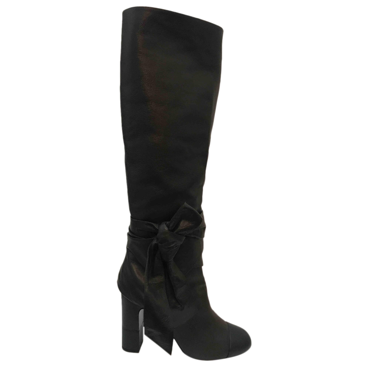 Chanel N Brown Leather Boots for Women 39 EU