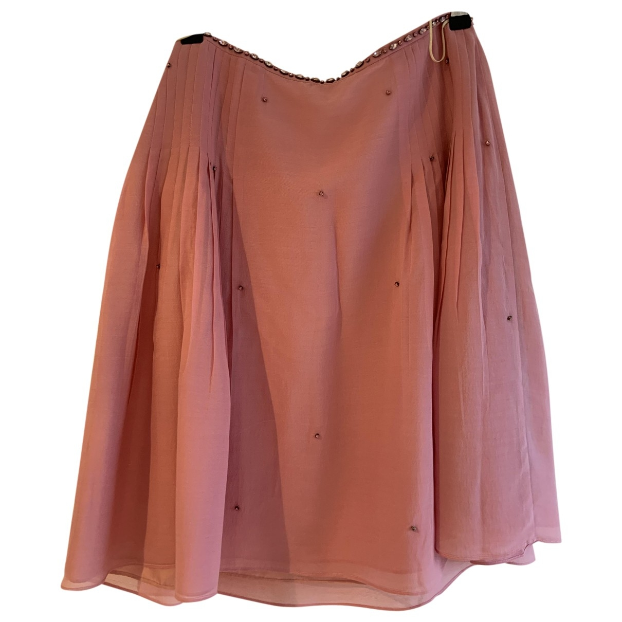 Tocca \N Pink Silk skirt for Women 6 US