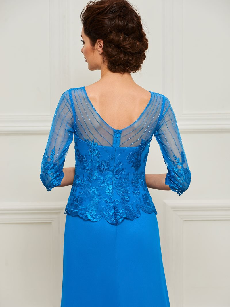 Ericdress Beading Appliques Half Sleeves Mother of the Bride Dress