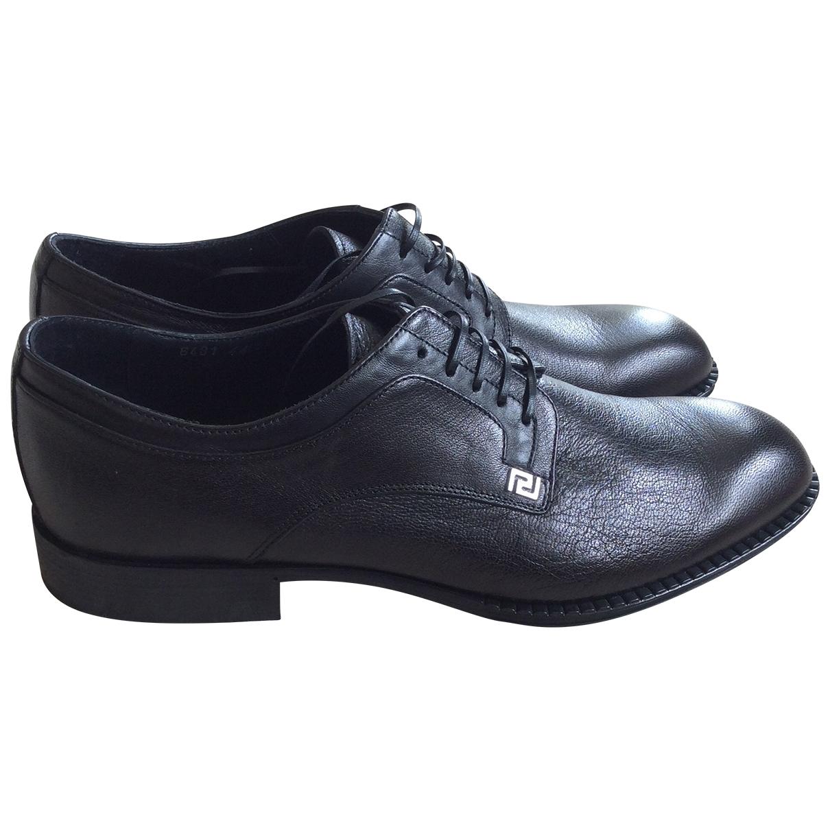 Versace - Derbies   pour homme en cuir - noir